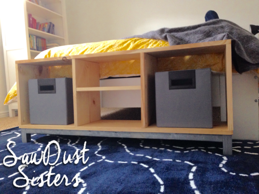 Diy Bench With Storage Compartments Ikea Nornas Look Alike