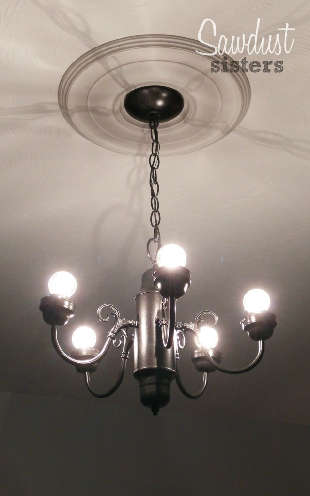 Simple $5 chandelier gets a makeover!