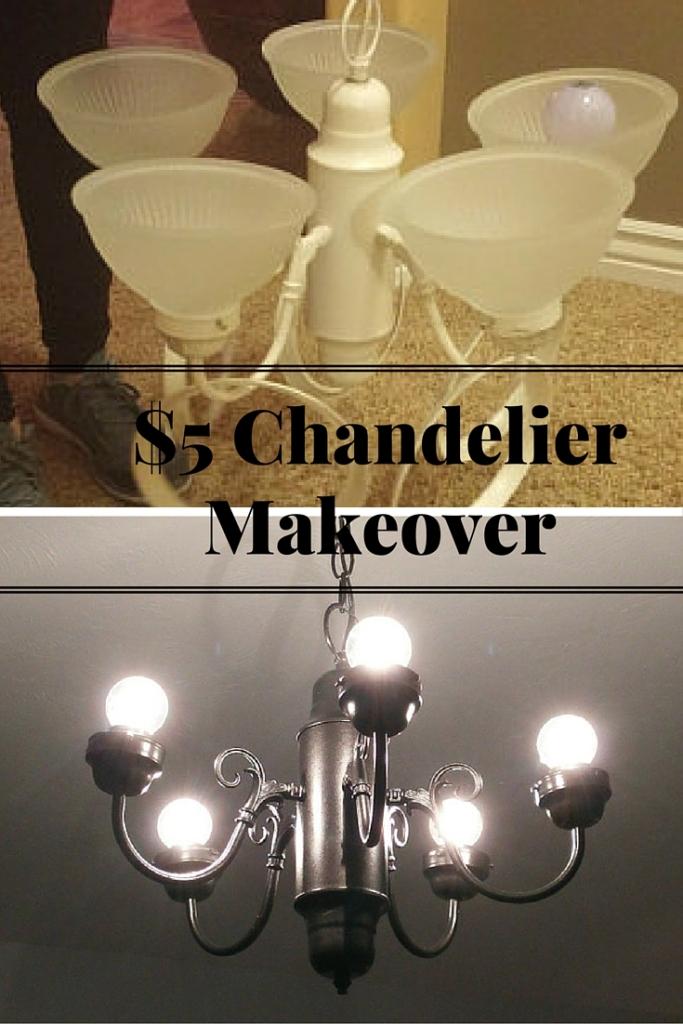 $5 Chandelier Makeover