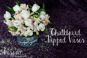 DIY Chalkboard dipped vases for centerpieces