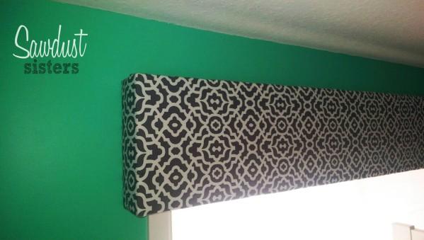 DIY Fabric Covered Cornice