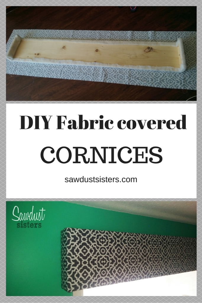 DIY Fabric Covered Cornices